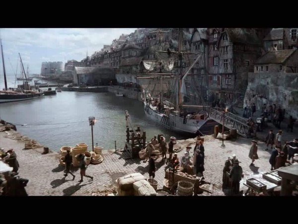 Dysart Harbour in the Amazon series Outlander