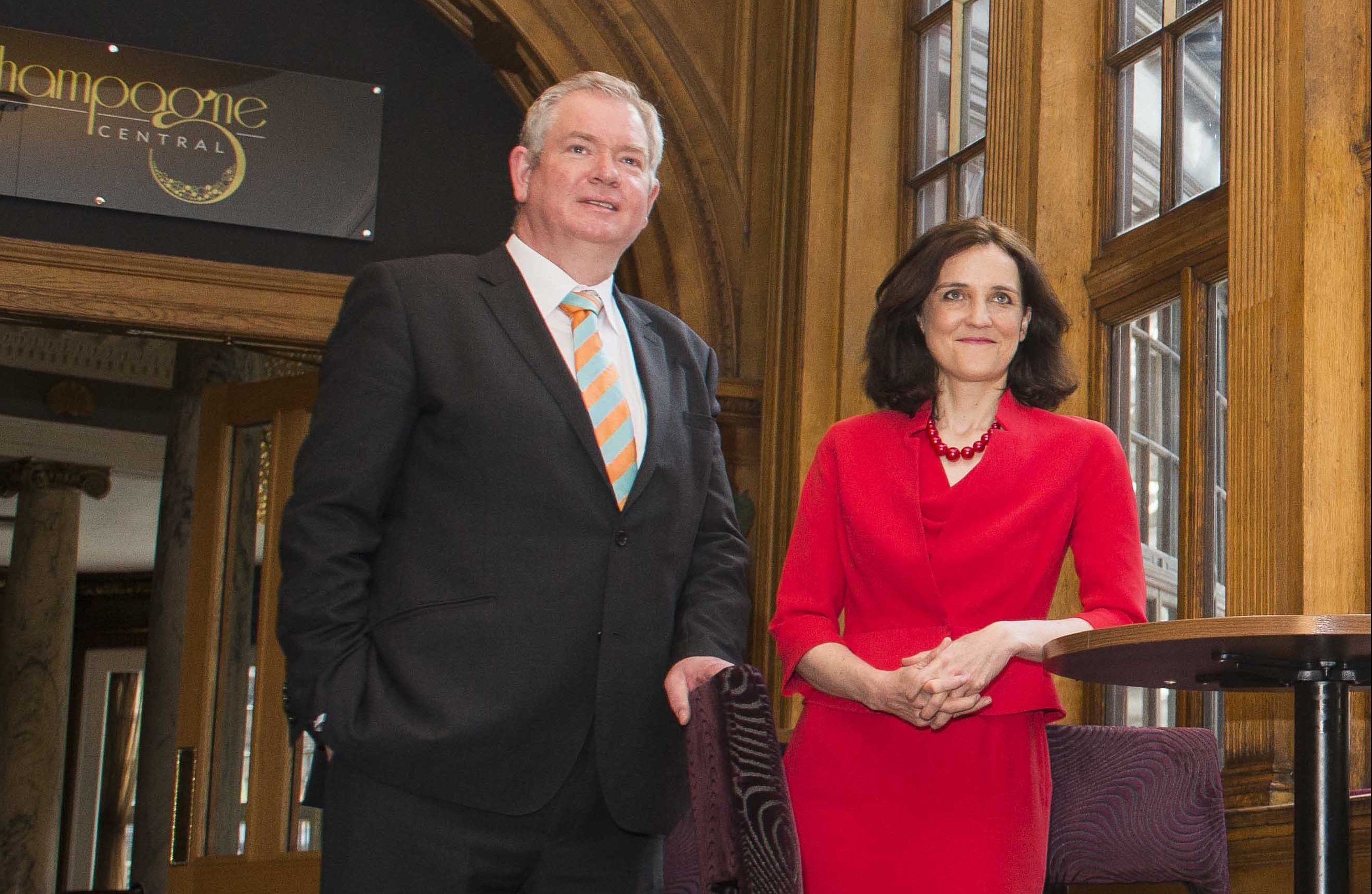 Tom Harris with Theresa Villiers.
