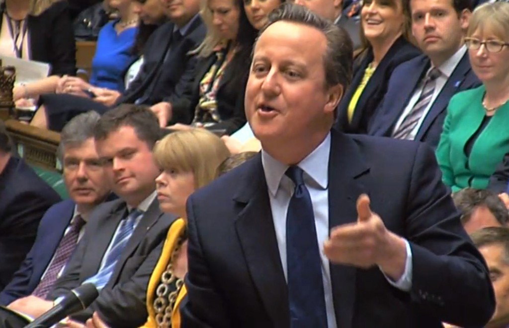 David Cameron speaks during Prime Minister's Questions.