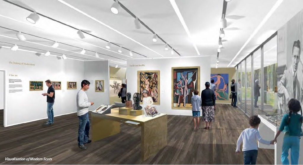An artist impression of how museums in Perth could look.