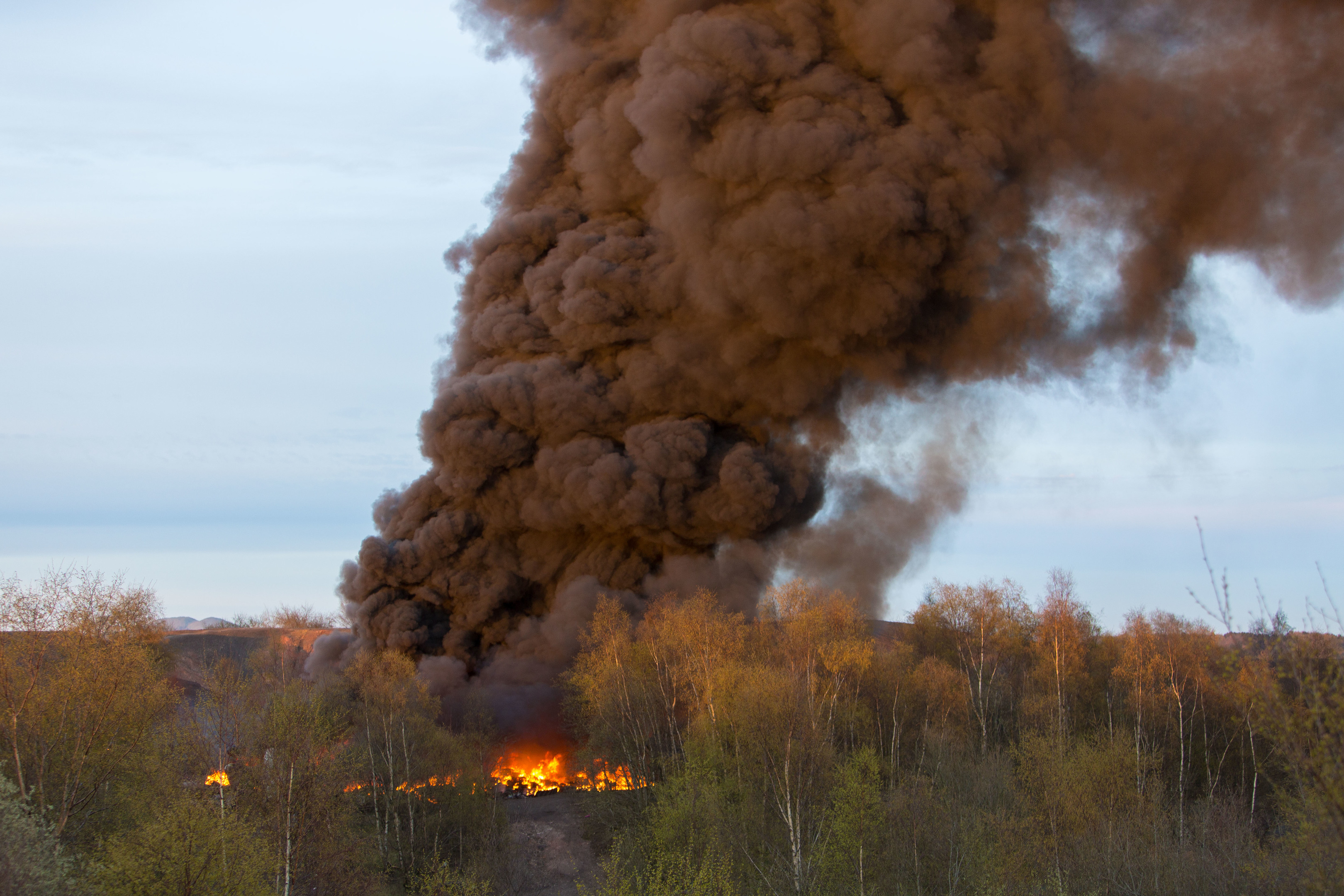 by The smoke was seen from Angus in the north to the Lothians in the south.