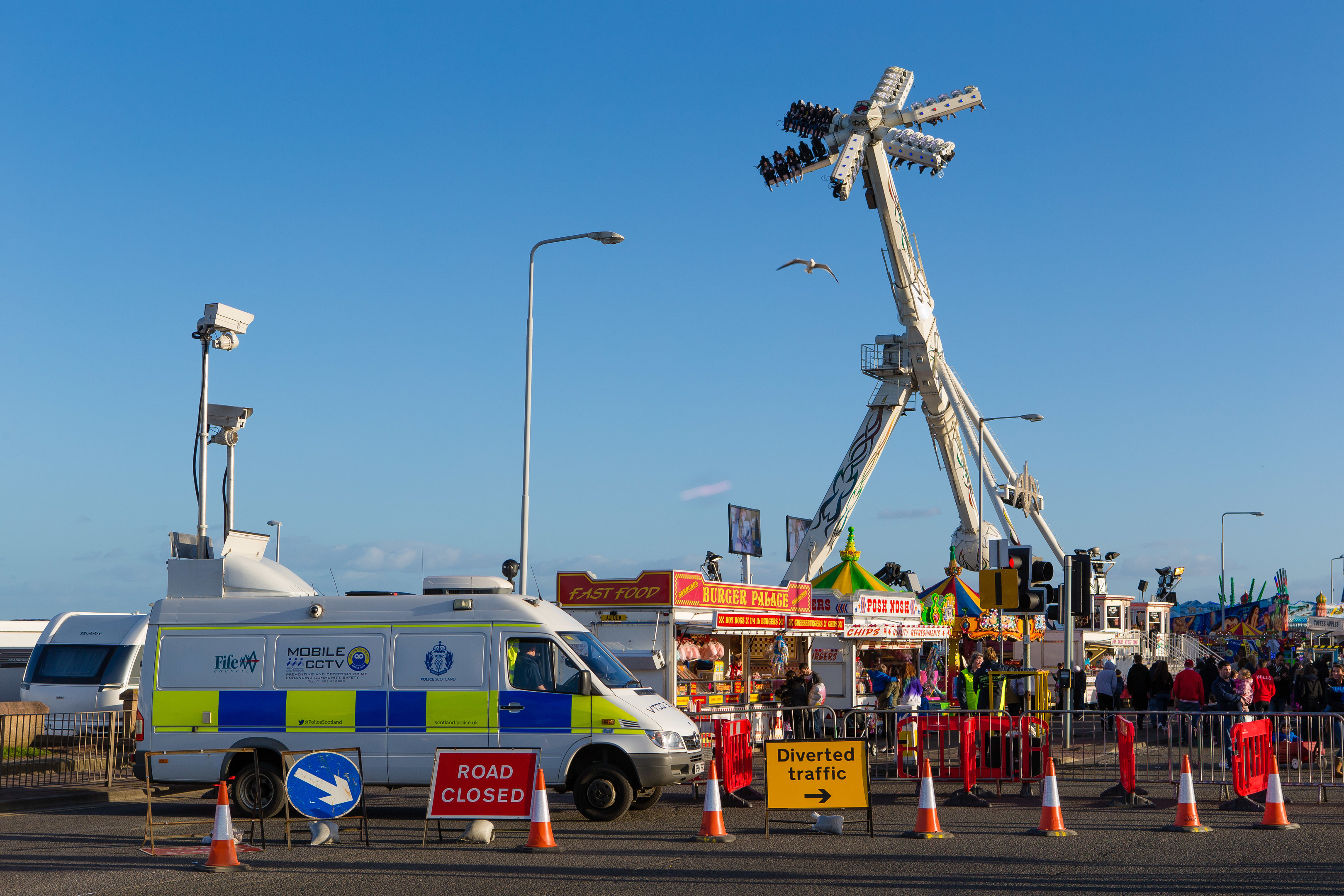 Kirkcaldy's iconic Links Market is in town and with improved security and crowd monitoring and safety is in place to ensure that everyone has a great time at the traditional travelling fairground.