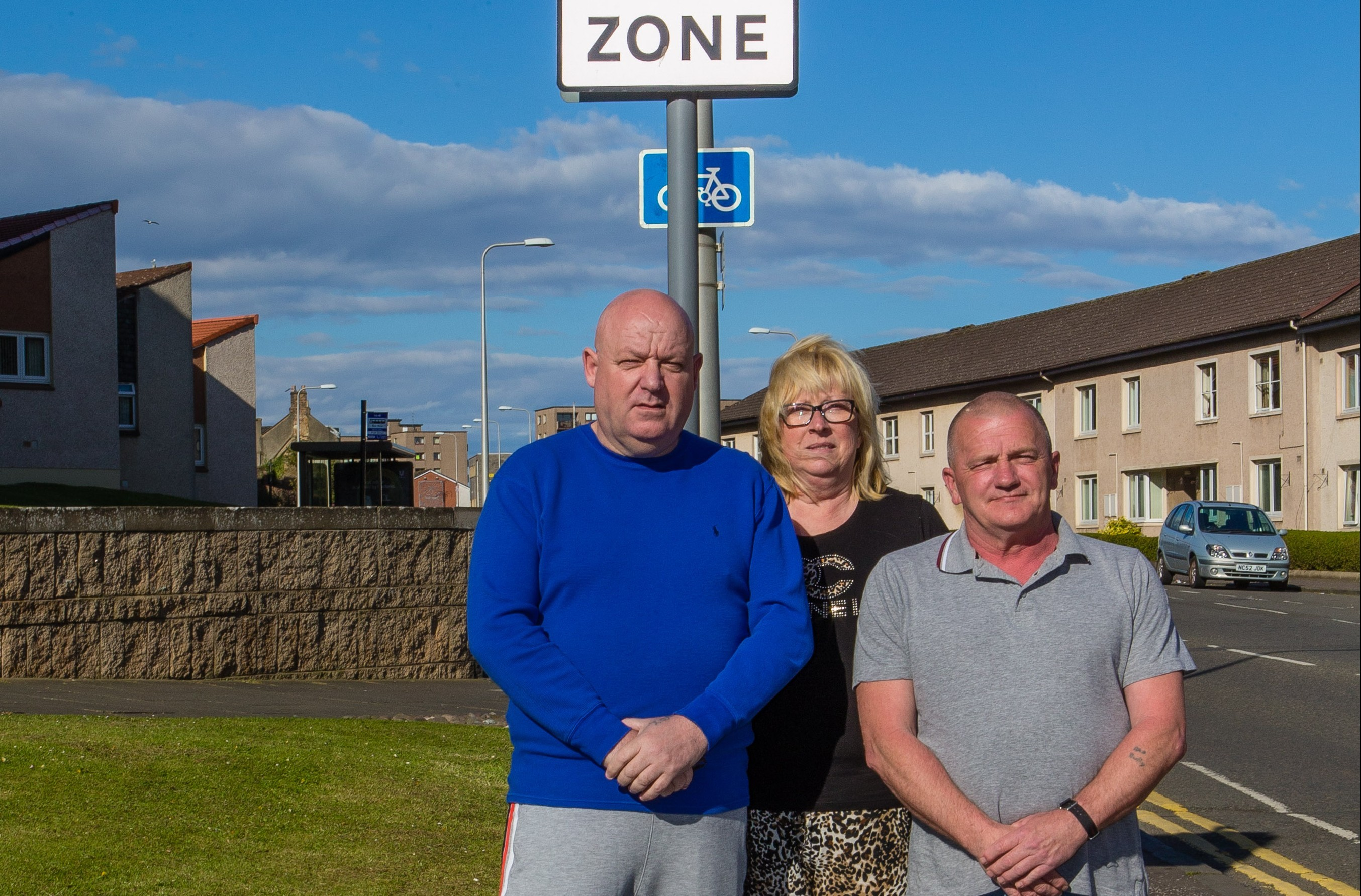 Locals Shane Halstead, Marie Erke and Rab O'Donnell are among those who want better policing and security at future Links Markets.