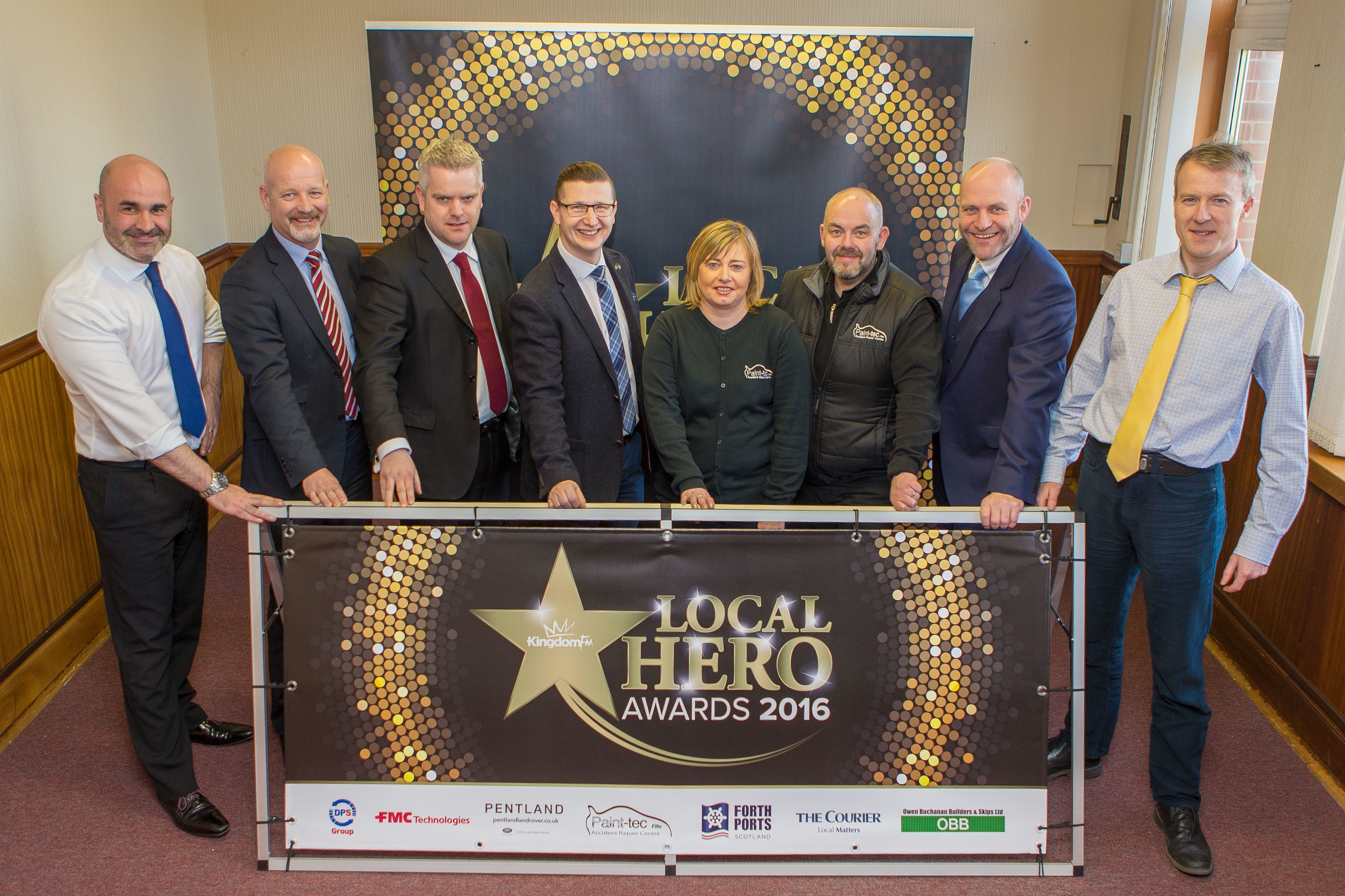 Main sponsors at the launch of the 2016 Kingdom FM Local Hero Awards in February