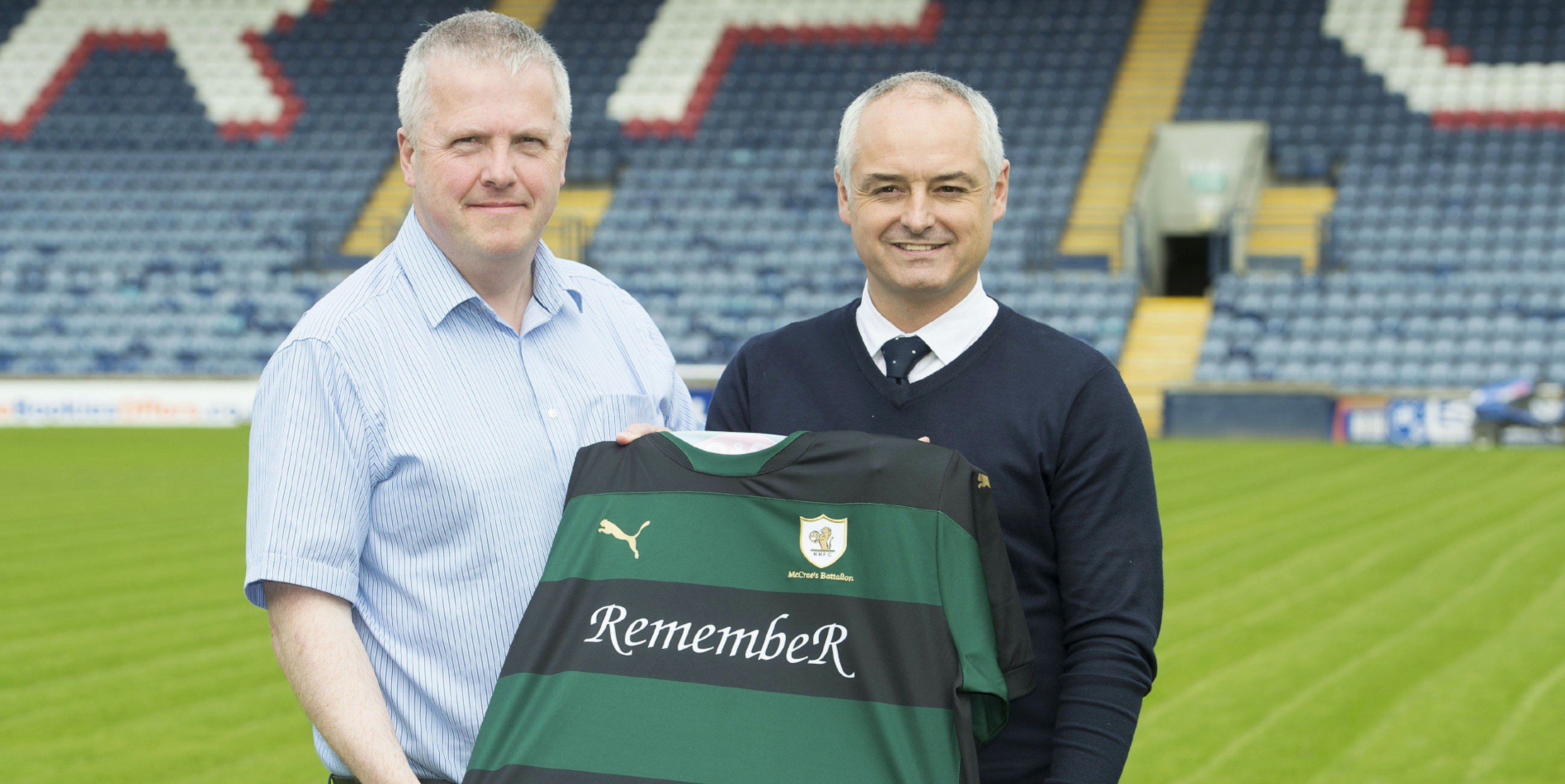 Eric Drysdale (left) with Ray McKinnon.