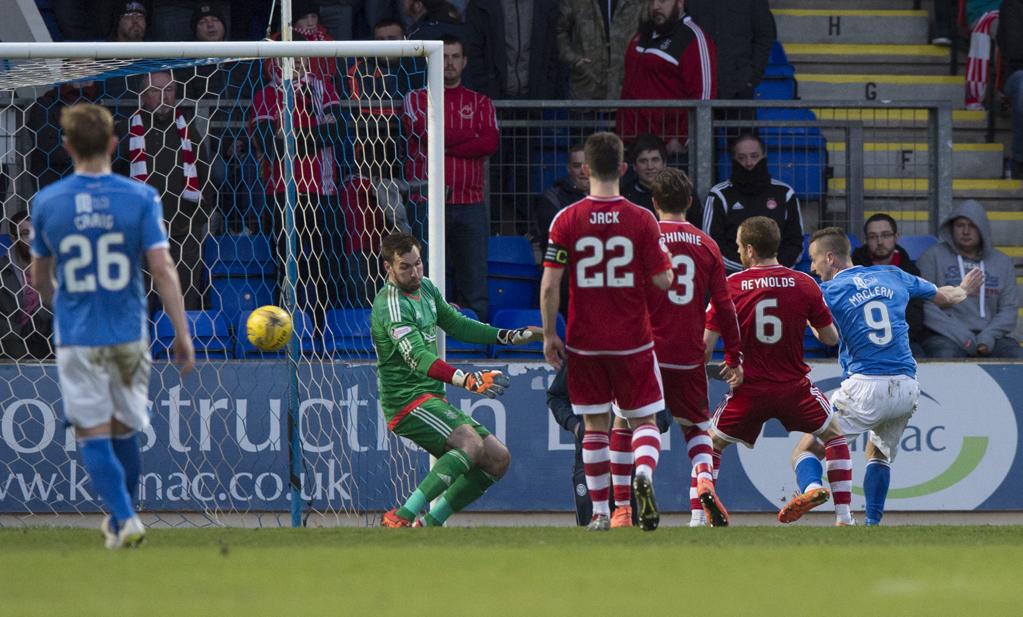 St Johnstone's Steven MacLean makes it 2-0.