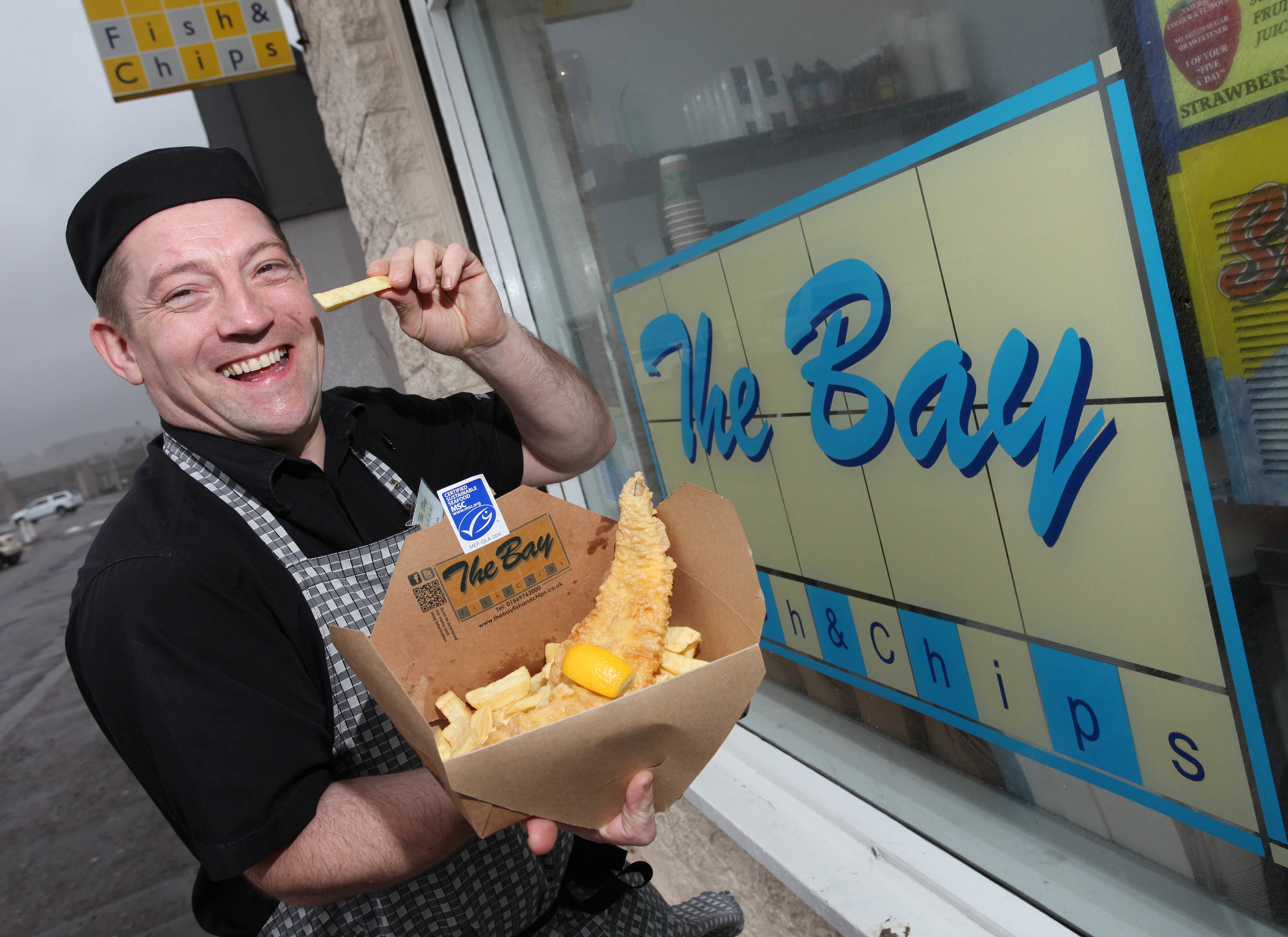 The Bay Fish and Chips owner Calum Richardson.