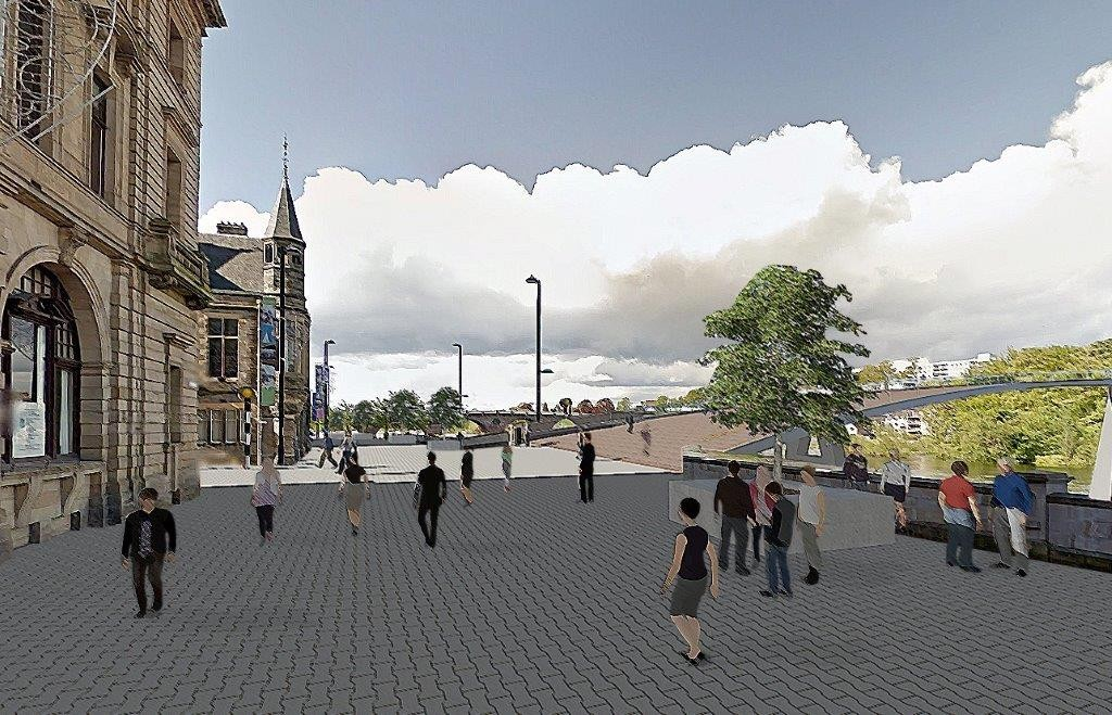 How Tay Street could look, according to the official Perth City Plan.