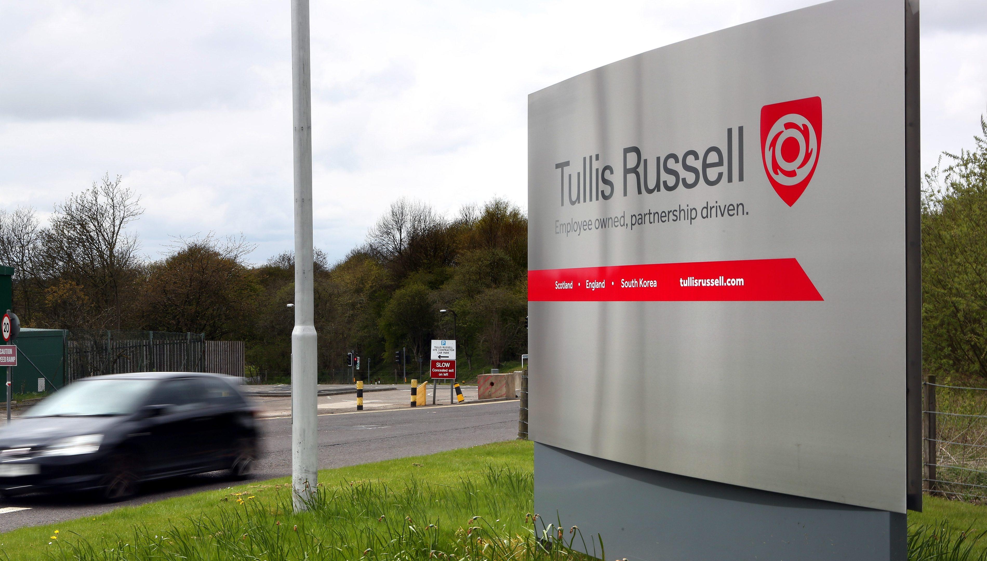 The Tullis Russell site near Markinch.