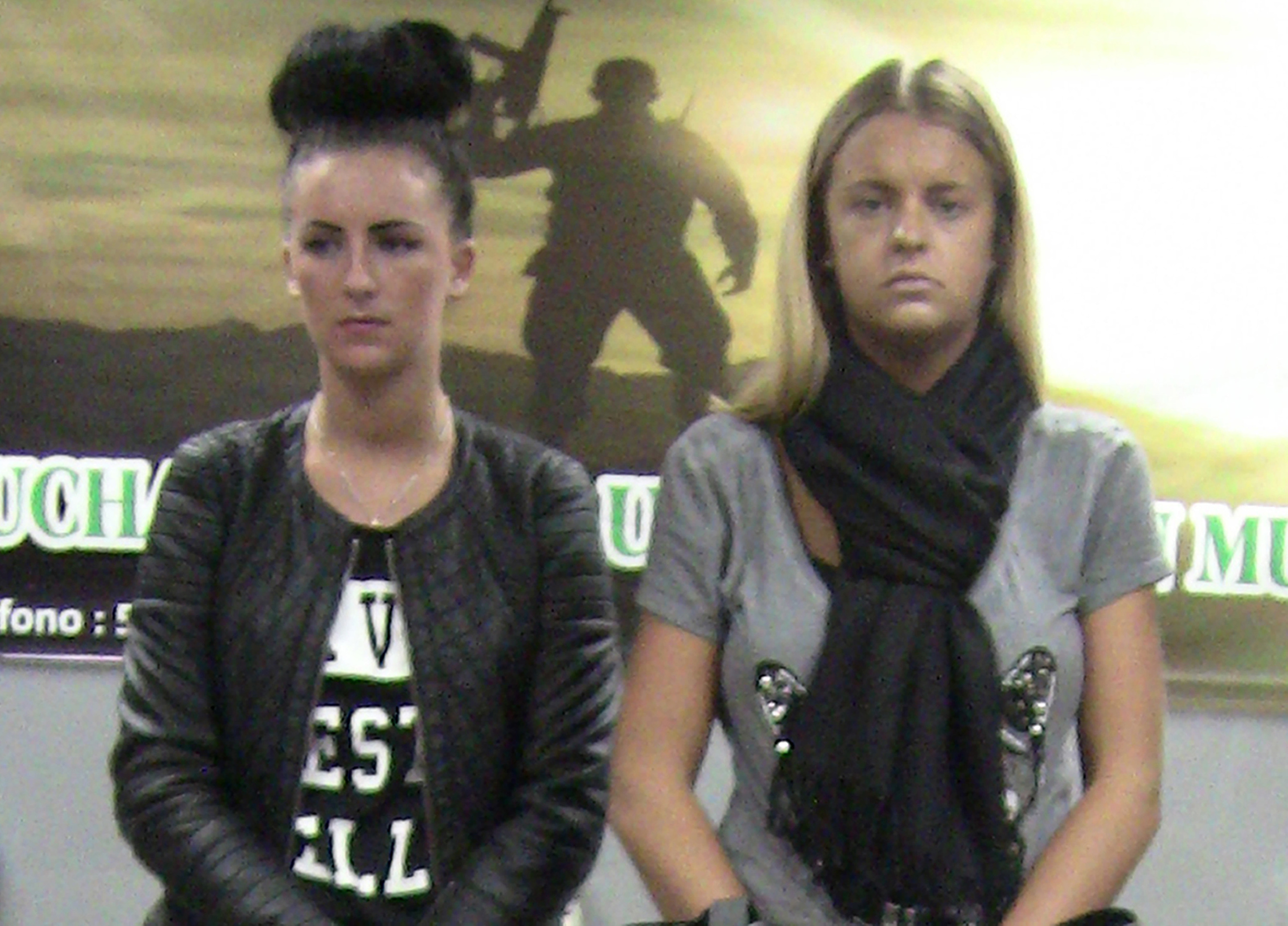 Michaella McCollum and Melissa Reid shortly after they were detained in Peru in 2013.