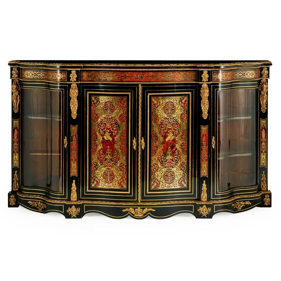 Victorian boulle marquetry serepentine credenza valued at between £1,000 and £1,500