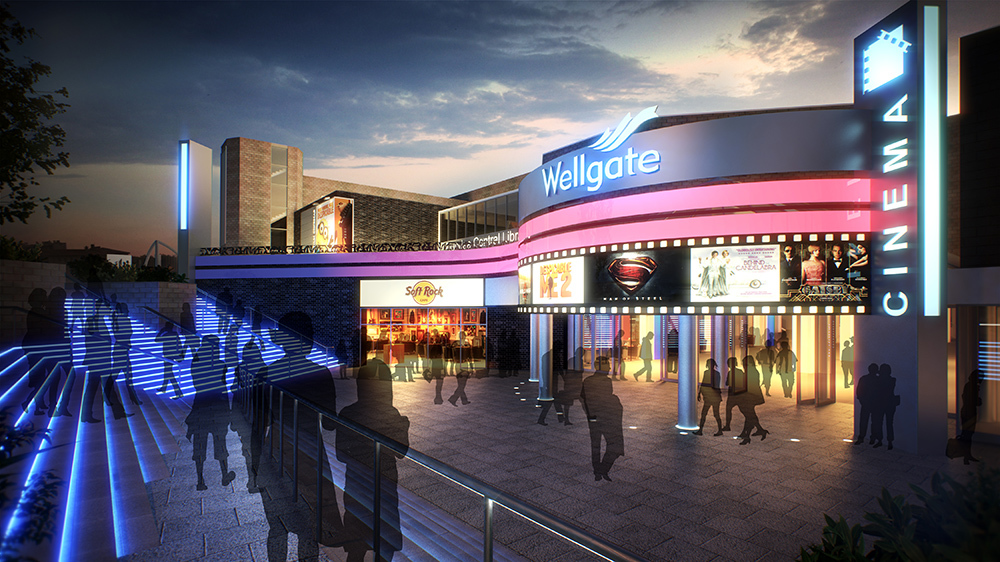 "Plans for a multiplex cinema at the Wellgate Centre are being ""reworked""."
