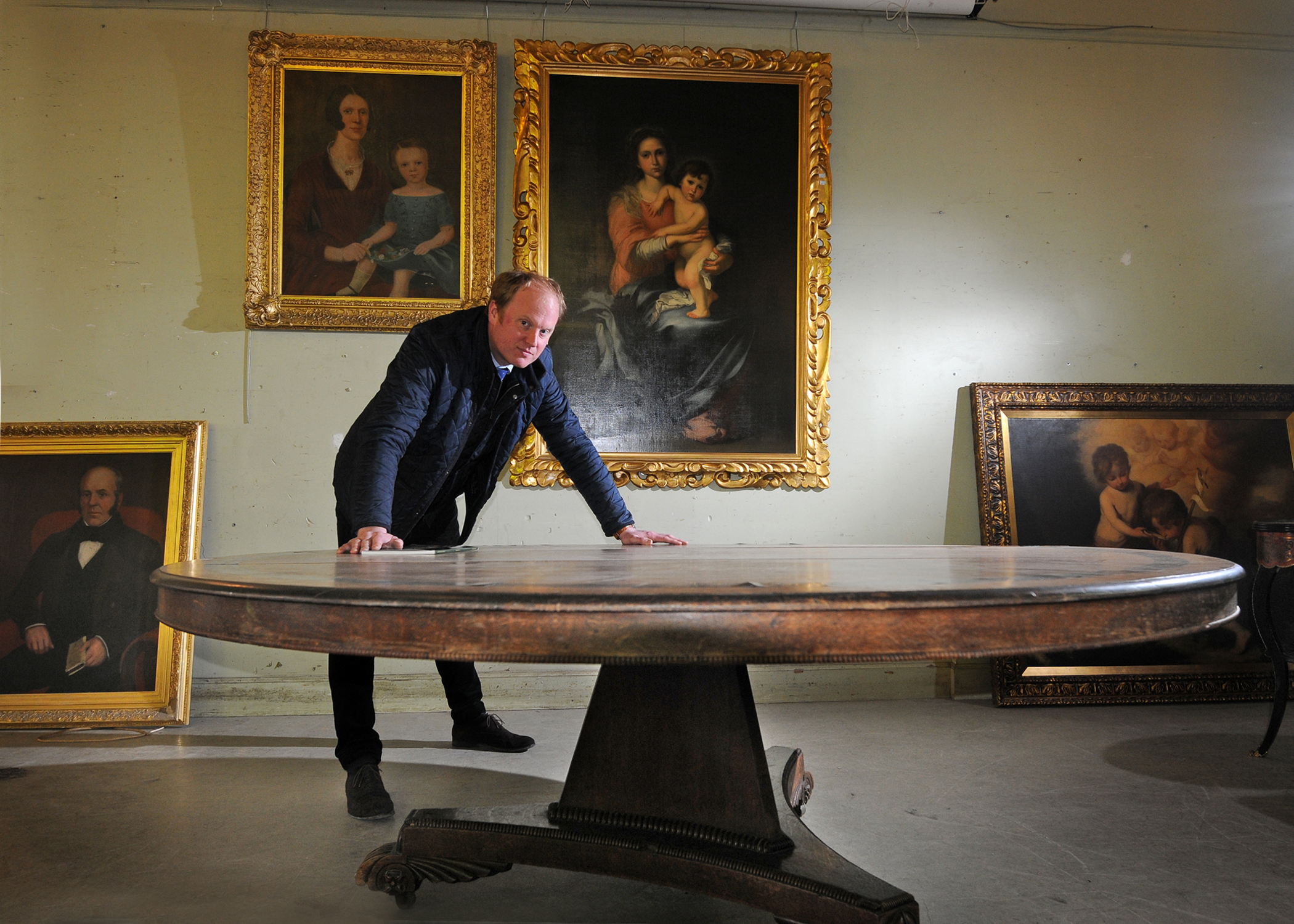Nick Burns with the William IV oak table.