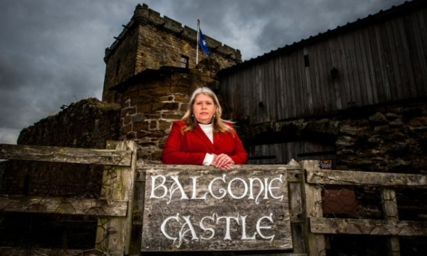 Kelly Morris will not be dealing with weddings and events at Balgonie Castle after the social media storm.