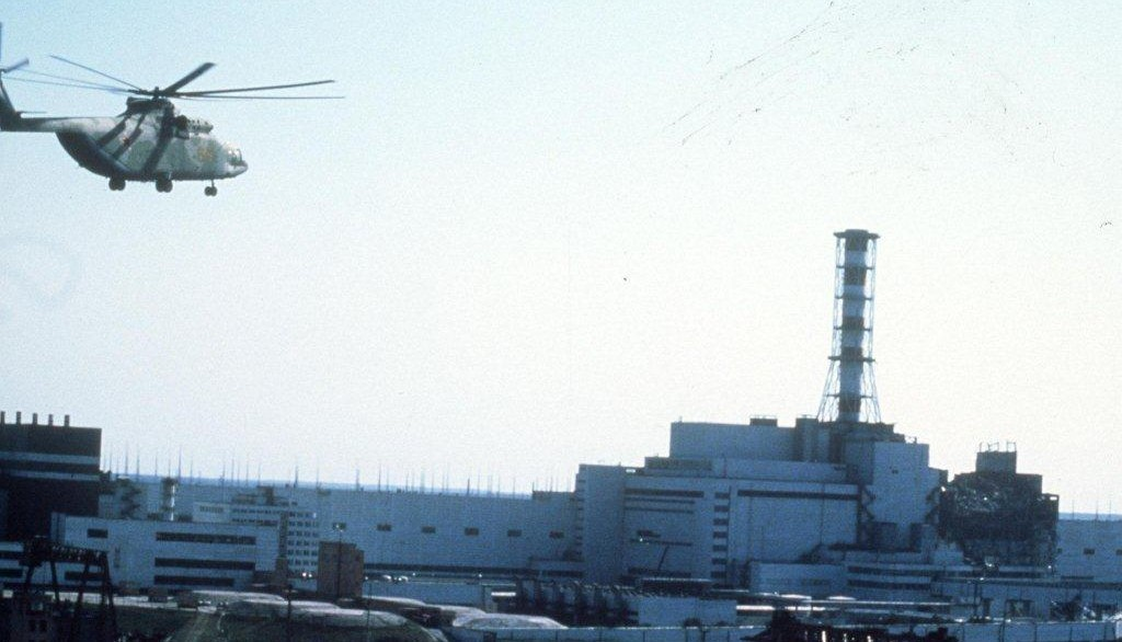 The Chernobyl nuclear power station in Ukraine in the aftermath of the April 26 1986 disaster.