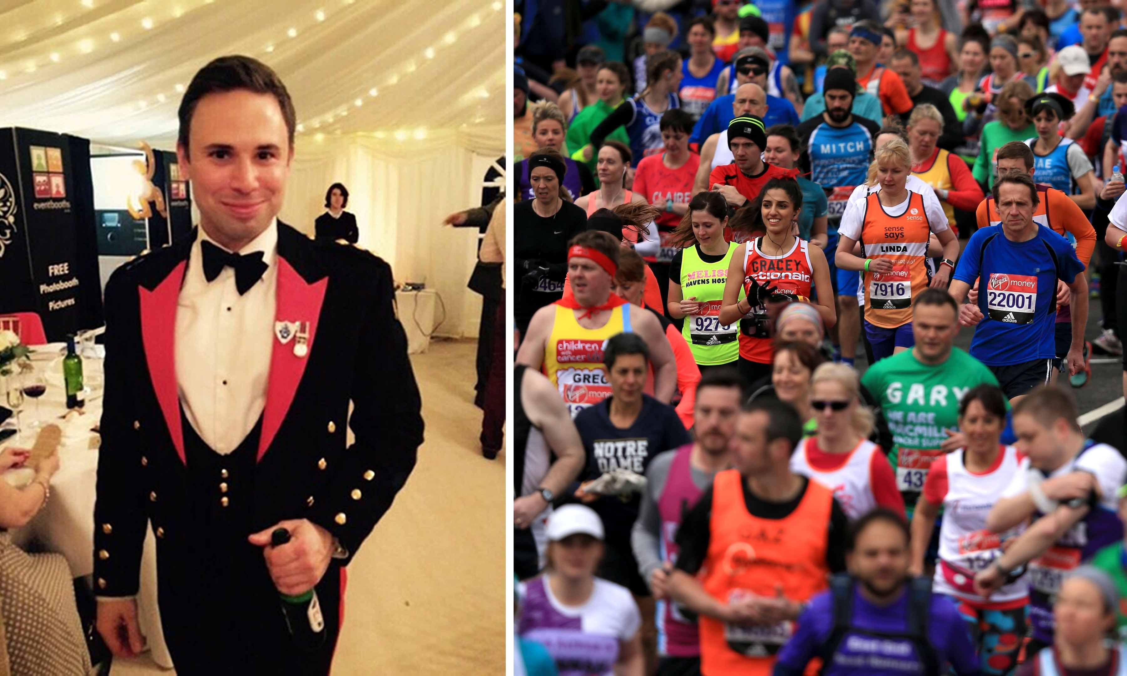 David Seath was one of the thousands who took part in the London Marathon.