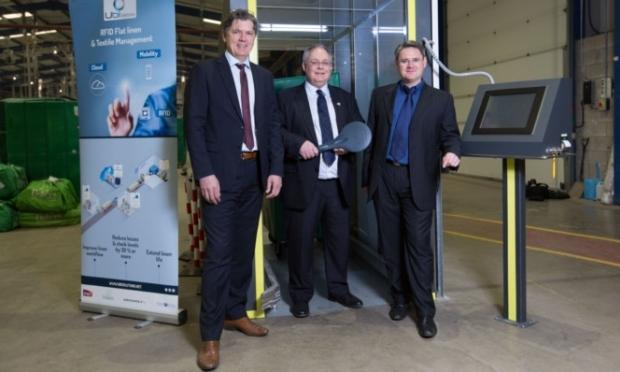 Renaud Munier, Michael Jones and Jacky Theme, UBI Solutions project director.
