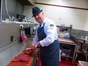 Bryan Beveridge, manager of Johnston's butchers, who will be showing how to make and barbecue steak burgers