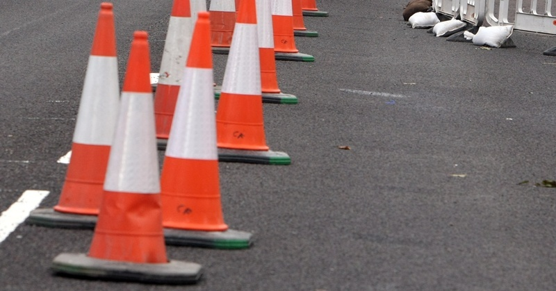 The roadworks are expected to be completed by Monday morning.