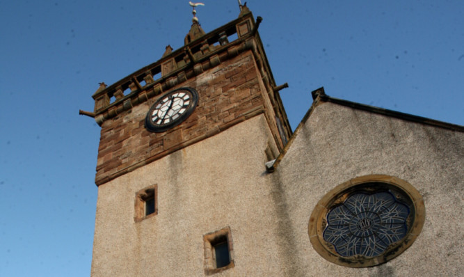 The reputedley haunted tower attatched to Pitenweem Parish Church where witches were kept before execution.
