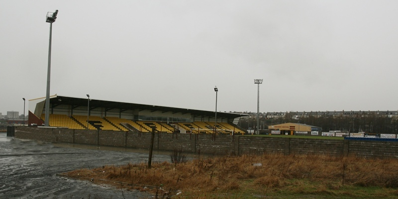 Pic shows the south end of New Bayview Stadium, home of East Fife, in Methil, where the covered terrace is proposed to be built.
