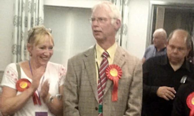 Winning candidate John Wincott.