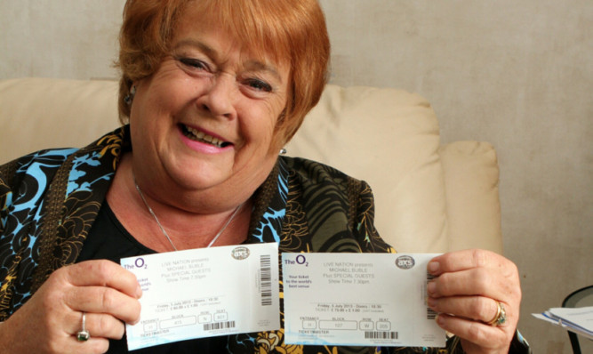Agnes Neish with her Michael Buble tickets.