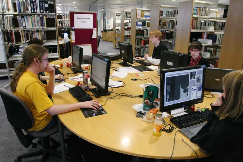 "Pic shows some of those taking part in ""Dare To Be Digital 2009"" competition at the University of Abertay library, Dundee."