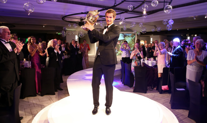 Andy Murray at Sunday night's champions' dinner in London.