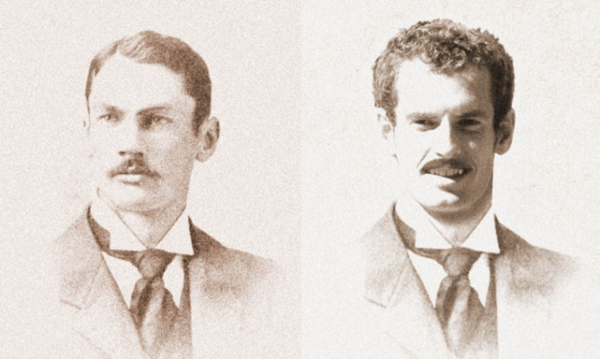 Harold Mahony and Andy Murray as he might have looked had he played in the 19th century.