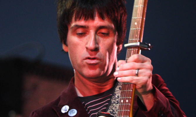 Johnny Marr at T in the Park on Sunday.