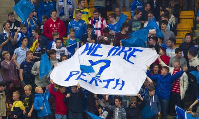 St Johnstone fans during the home tie against Rosenborg.