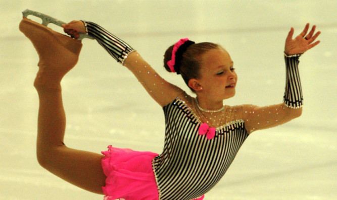 Cara McCabe on the ice during her routine.