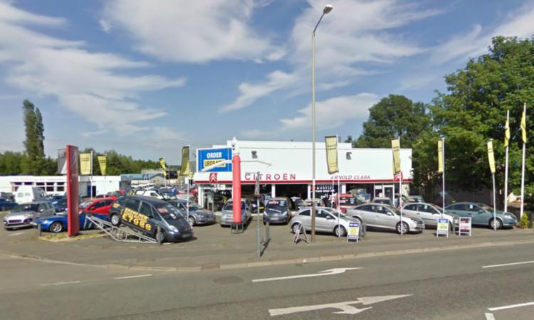 The car was stolen from Arnold Clark Citroen in Dunkeld Road.