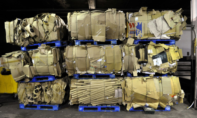Cans packed ready for recycling at Earl's Court, London. PRESS ASSOCIATION Photo. Picture date: Tuesday October 13, 2009. Photo credit should read: Tim Ireland/PA