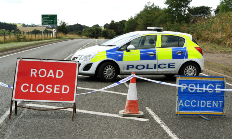 The A91 was closed on Thursday after the tragic accident.