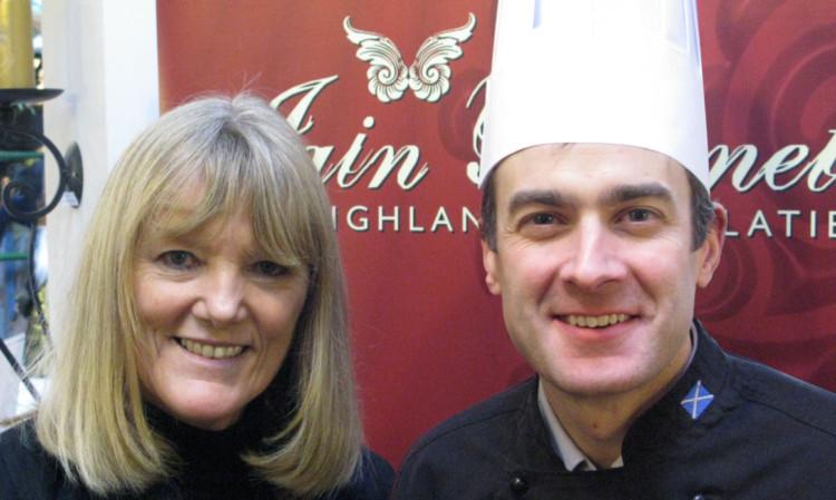 Making the most of chocolate: Janice Kennedy and Iain Burnett.