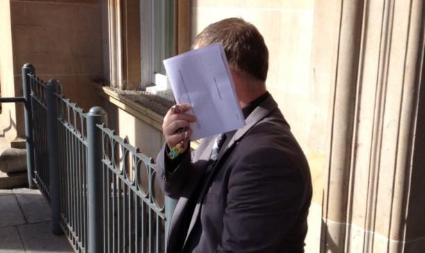 Gary Moore outside court.