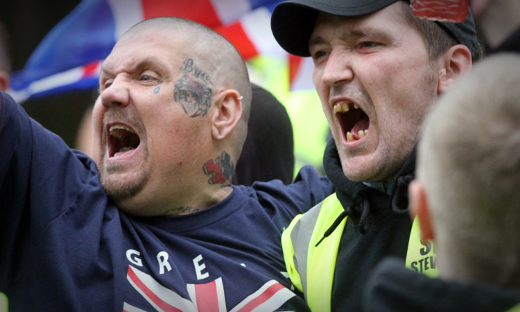SDL protesters during last September's gathering in Dundee.