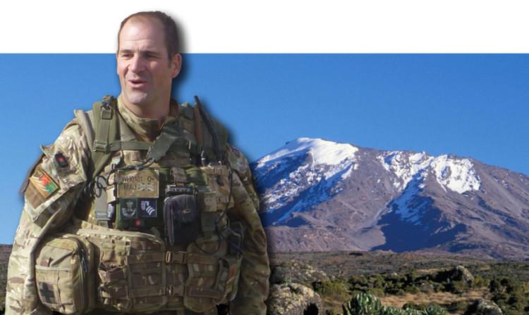 Major White will be heading up Kilimanjaro.