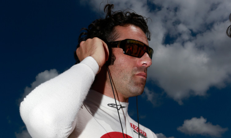Dario Franchitti collided with Takuma Sato at the IndyCar Series Grand Prix of Houston.