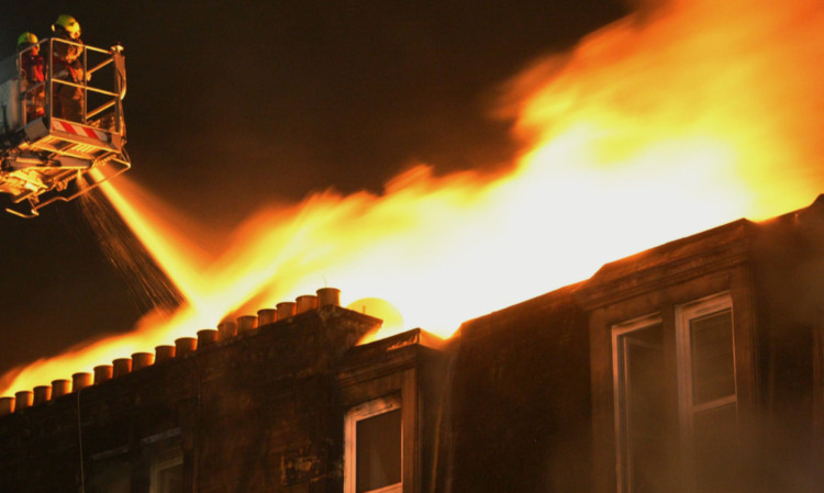 A Scottish Government spokeswoman said members of the emergency services, such as these firefighters tackling a tenement blaze in Dundees Garland Place, should be able to work without the fear of assault.