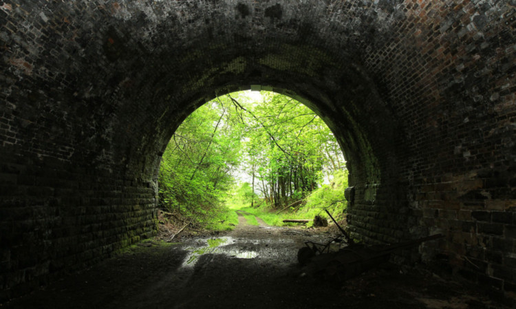 A disused tunnel on the old Perth to Edinburgh line.