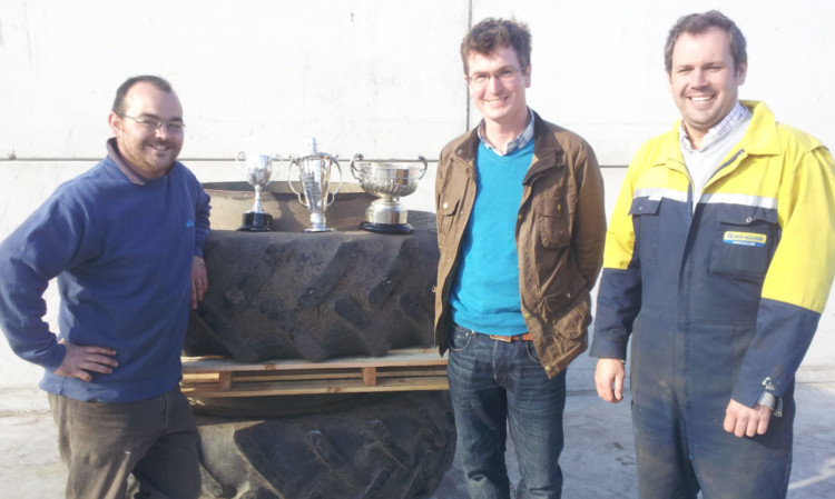 Pick of the crop: Andrew Stevenson (oats), Jonathan Kilfedder (winter barley, overall), Roy Fisher (wheat).