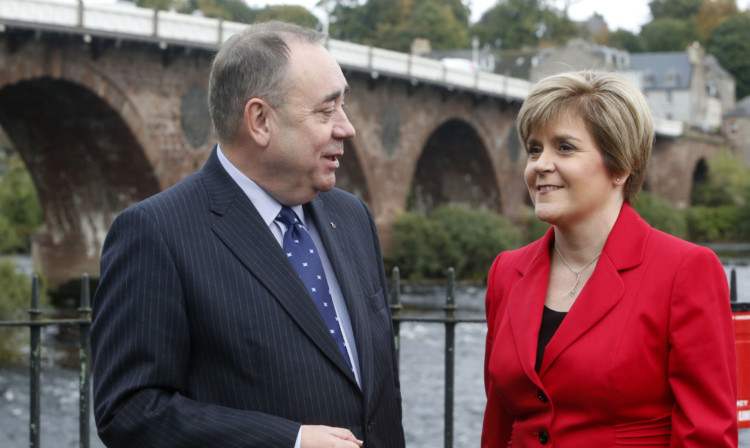 First Minister Alex Salmond and Deputy First Minister Nicola Sturgeon at the SNP annual conference in Perth.