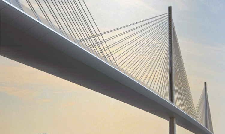 An artist's impression of the new Queensferry Crossing.