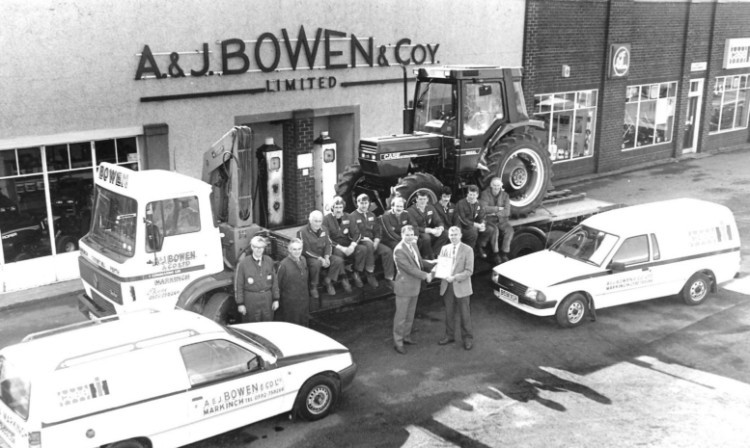 Following the dealership rationalisation it was former IH dealer A & J Bowen of Markinch which was awarded the Case IH franchise in Fife.