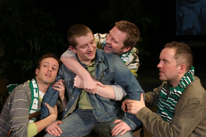 Some of the cast of Dundee Reps production of Sunshine on Leith, a musical featuring the songs of the Proclaimers.   L/R: John McManus; Kevin Lennon; Jimmy Harison, and Keith Fleming.