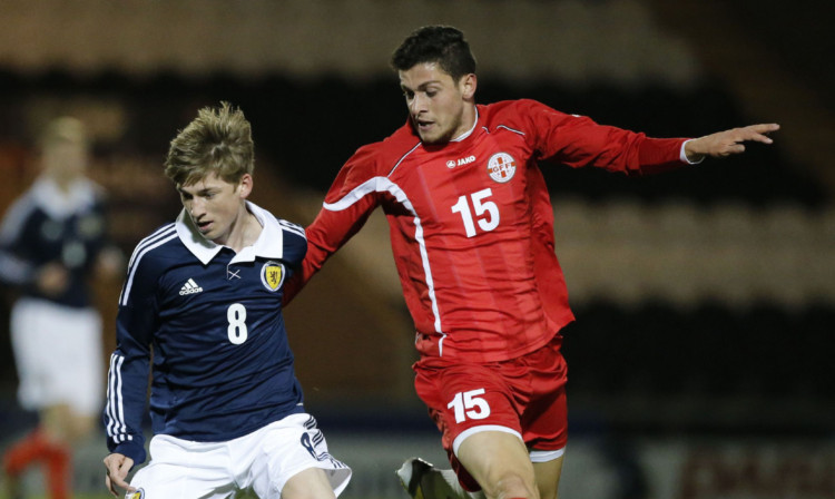 Billy Stark said Ryan Gauld took the step up to U21 level 'like a duck to water'.