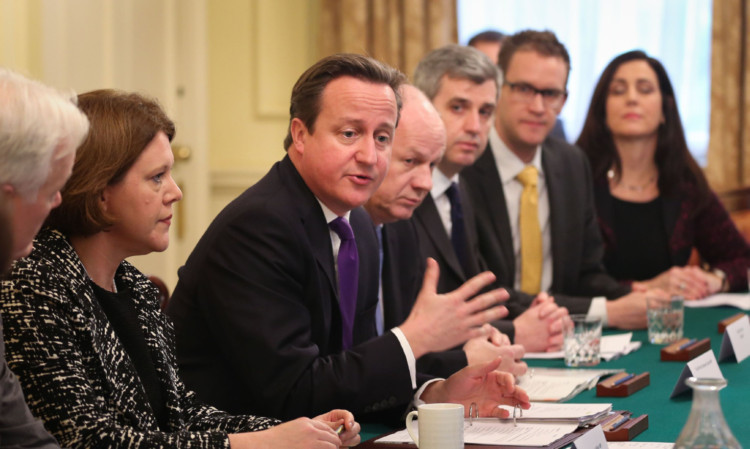 Culture Secretary Maria Miller and David Cameron meeting members of leading search engines, internet service providers, the National Crime Agency and the NSPCC in Downing Street on Monday.